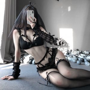 Women Sexy Lingerie Costume Babydoll Dress Uniform Erotic Role Play Female Exotic Sets Cosplay Bride Dress Underwear Set Role-playing Games